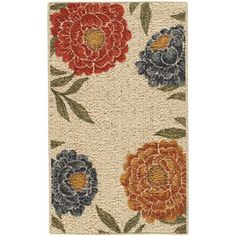 Better Homes and Gardens Floral Berber Printed Accent Rug 5x7 ($69.00)