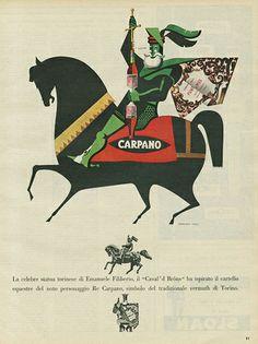 Vintage Italian Posters ~ #illustrator #Italian #vintage #posters ~ Pubblicità CARPANO 1954