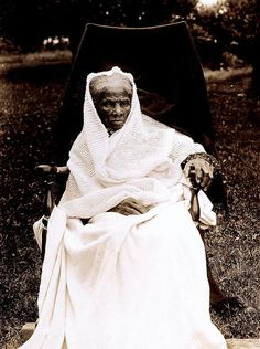 This is Harriet Tubman's photo in her later years, taken by Elizabeth Smith Miller and Anne Fitzhugh Miller.