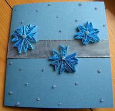 Part 1 of 2---Quilling by Anca Milchis: Blue and Glitter