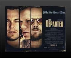 "Framed Departed DiCaprio Print High Quality 2"" Black Wood Buy It Hang It Poster"