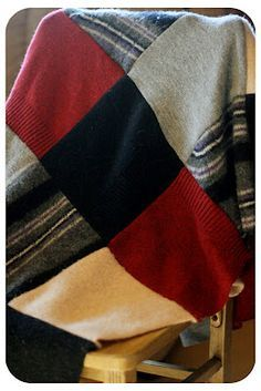 Bull Rock Barn and Home  How I Made a Recycled Wool Sweater Blanket Sweater  Quilt cbd46ea69