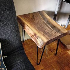 Beau Cute Little Live Edge Black Walnut End Table We Made For A Client Using The  Off