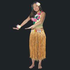 33 by 31 Flower Banded Raffia Hula Skirt from Windy City Novelties
