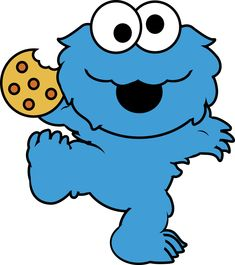 Cookie Monster clipart cartoon in baby cookie monster drawing collection - ClipartXtras Monster Clipart, Monster Stickers, Muppet Babies, Baby Cookies, Cookies Et Biscuits, Baby Elmo, Monster Baby Showers, Cartoon Cookie, Cookie Monster Party