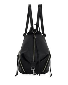 0ebf8ad11f84 V3HQQ Rebecca Minkoff Julian Medium Leather Backpack Designer Backpacks
