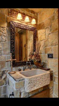 Sick stone bathroom