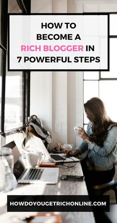 Do you want to start a blog and make money? How to Become a Rich Blogger in 7 Powerful Steps. Hopefully, these 7 powerful tips will help you to become a rich blogger, in less time. #Blogging #Entrepreneur #BloggingTips #PassiveIncome #WorkFromHome Make Money Blogging, How To Make Money, How To Become, Earn Money, Becoming A Blogger, Influencer, Blog Topics, Blogging For Beginners, Social Media Tips