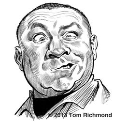 Curly Howard. Tom Richmond.