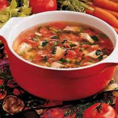 Old-Fashioned Turkey Soup Recipe -For added convenience freeze some of the soup in individual serving-size portions.