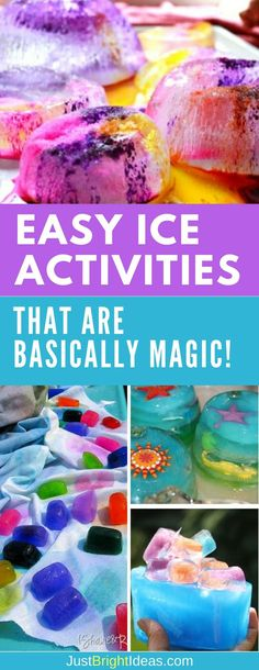 Ice activities are a brilliant way to combine sensory play with some science learning. These activities are fun for kids of all ages and are just as perfect in the winter months as they are the summer! School Age Activities, Holiday Activities For Kids, Eyfs Activities, Nursery Activities, Winter Activities, Infant Activities, Science Activities, Science Ideas, Camping Activities