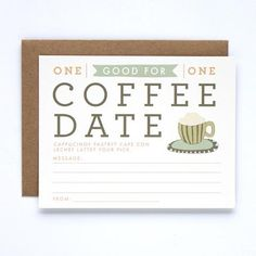 A different way to ask someone on a coffee date!