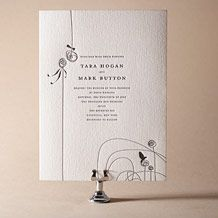 Urbanity Letterpress Invitation Design Small