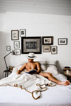 From what was part of an old mattress factory to being renovated into a stylish white studio designed by… Mode Masculine, Masculine Energy, Men In Bed, Old Mattress, Men Photoshoot, Man Room, All White, Interior And Exterior, Bedroom Decor