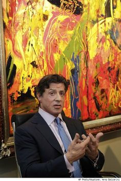 Sylvester Stallone discusses painting as a method of expression Examples Of Art, Rocky Balboa, Post Impressionism, Childrens Gifts, Sylvester Stallone, Rock Art, Art History, Famous People, Abstract Art
