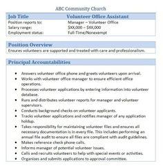 Job Description Templates  indukresume oneway2 me