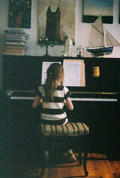 Décorer le dessus du piano