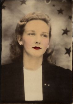 ** Vintage Photo Booth Picture **   Lovely starry backdrop