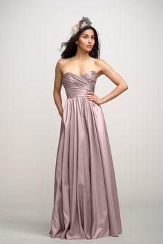 Junior Bridesmaid Dress Option (Monique) | $260 buy online at weddingtonway.com | Shop Watters Bridesmaid Dress - Buttercup in Luminescent Taffeta | color: frosting