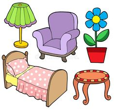 Illustration about Furniture collection 1 on white background - vector illustration. Illustration of chair, decoration, illustration - 7377896 Paper Doll House, Paper Dolls, Image Clipart, Clipart Images, Free Preschool, Busy Book, Colouring Pages, Dollhouse Furniture, Furniture Collection
