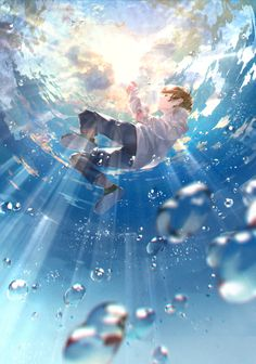 Art Discover Kai Fine Art is an art website shows painting and illustration works all over the world. Fantasy Anime, Fantasy Kunst, Anime Scenery Wallpaper, Anime Artwork, Cool Anime Backgrounds, Wallpaper Art, Aesthetic Art, Aesthetic Anime, Anime Art Girl