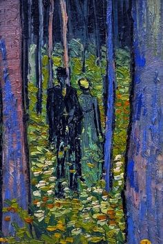 Vincent van Gogh (Dutch, 1853-1890) - Undergrowth with Two Figures, 1890