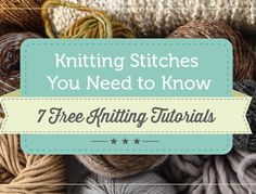 knitting stitches guide