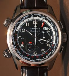 With 2012 behind us we are trying to find stuff from last year that we forgot to cover. Not because it wasn't cool, but you know, because we get busy. I was sad to find that I neglected to cover the Pilot Doublematic watch from Zenith - I even had some hands-on time with it.