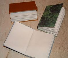 Hand sewn books using index cards