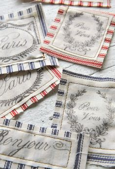 French Fabric Labels by HandmadeBySomerset on Etsy, $4.95