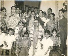Wedding photo of M.S.Subbulakshmi(a great musician of Tamilnadu )with Mr.Sadasivam