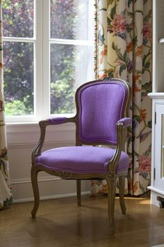 Lisa Mallory Interior Design is a residential interior design firm in Memphis, TN. Decor, Beautiful Chair, Interior Design, Home Office Chairs, Home, Interior, Elegant Chair, Purple Elegance, Purple Chair