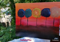 Night of trees canvas painting