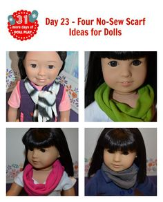 Four easy no sew scarves for dolls