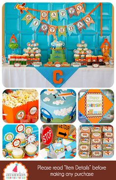 Transportation Party (Printable) for Birthdays with Cars, Trains and Planes  ========================  WHAT YOU ARE PURCHASING: