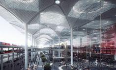 イスタンブール・グランド空港(Istanbul Grand Airport)のイメージ図。(c)Relaxnews/Grimshaw, Nordic, Haptic ▼25Apr2014AFP|イスタンブール・グランド空港ターミナル、完成予想図公開 http://www.afpbb.com/articles/-/3013612