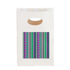 mixed border purple green Canvas Lunch Tote