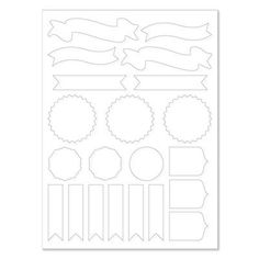 """Close to My Heart Dimensional Elements Awards  These white chipboard shapes can be stamped, painted, papered, chalked, and more! 12"""" × 9"""" sheet.    Coordinates with our Cricut® Artiste collection (Z1790).    $4.95"""