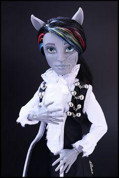 On RESERVE for Lydia  custom monster high doll ooak horror zombie