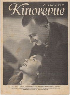 Časopis Kinorevue 1944-45 č.8, Hana Vítová,  Oldřich Nový Vintage Photos, Celebrity, Memories, Artists, Actors, Retro, Movie Posters, Collection, Movie Theater