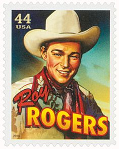 2010 Cowboys of the Silver Screen - Roy Rogers Old Stamps, Postage Stamp Art, The Lone Ranger, Kino Film, Roy Rogers, Cowboy Art, First Day Covers, Happy Trails, Western Movies