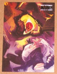 Marvel Heroes and Villains (Rittenhouse 2010) Parallel Card #32 Ghost Rider vs. Blackout EX-MT