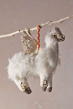 Enchanted Flyer Ornament, Anthropologie This is kind of hilarious and surprisingly pretty. Anthropologie Christmas, Christmas In Europe, Christmas Time, Christmas Feeling, Xmas, Christmas Ideas, Fox Ornaments, Christmas Ornaments, Merry Christmas