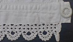 Ravelry: Chrochet lace found on a pair of pantalettes pattern by knitting krakspark free pattern Crochet Trim, Crochet Lace, Crochet Stitches, Crochet Patterns, Ravelry Crochet, Crochet Edgings, Loom Knitting, Baby Knitting, Crochet Boarders