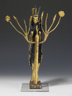 "Artifact of the Royal Cemetery of Ur - Ram in the Thicket or Ram Caught in a Thicket, Mesopotamian, ca. 2650-2550 B.C. Found in the ""Great Death Pit"" at Ur. Gold, silver, lapis lazuli, copper, shell, red limestone and bitumen. © University of Pennsylvania Museum of Archaeology and Anthropology"