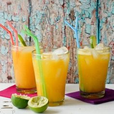 Champagne Mango-Lime Agua Fresca. A perfect non-alcoholic option for any hot weather day!
