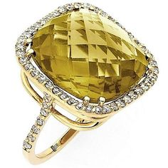 19 Carat Honey Citrine Diamond Ring (jm)