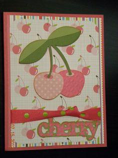 Cricut Card using Preserves cartridge