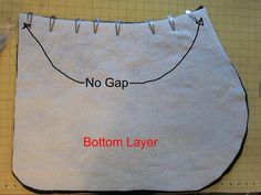Sewing: All Purpose English Saddle Pad Pattern