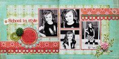 scrapbook 2 page layout